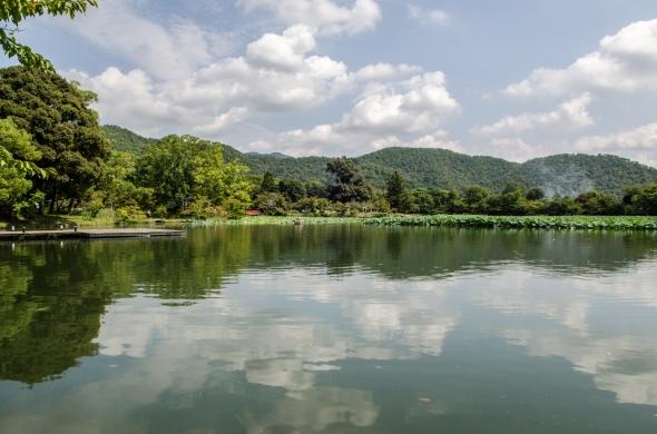 View across Osawa pond
