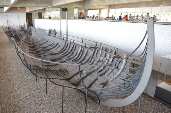 """The """"remains"""" of one of a few Viking Ships preserved for hundreds of years that was discovered fairly recently... parts of the wood was still in tact!"""